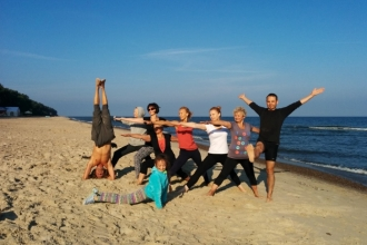 Yoga by the sea in August. 8 days. Lukecin.